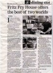 Review in Dining Out, July 5th, 2005